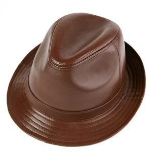 Mens Classic Genuine Leather Western Style Hat