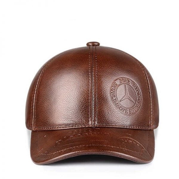 Genuine Leather Baseball Cap
