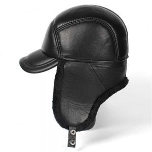 Classic Winter Leather Hat